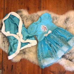 Disney Frozen size 4 Elsa tulle dress